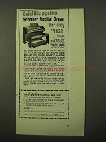 1971 Schober Recital Organ Ad - Build This Pipelike