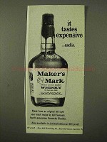 1971 Maker's Mark Whisky Ad - It Tastes Expensive