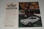 1971 Mercury Capri Sport Coupe Ad - Import of the Year