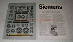 1970 Siemens Ferrites Ad - Simple in Appearence