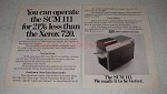 1970 SCM 111 Copier Ad - Operate For Less Than Xerox