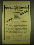 1913 Waterman's Ideal Fountain Pen Ad - Simple