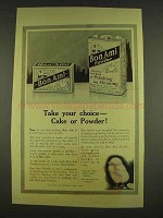 1913 Bon Ami Cleanser Ad - Cake or Powder
