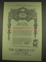 1913 Gorham Silverware Ad - Art in the Dining Room