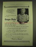 1913 Grape-Nuts Cereal Ad - Wise Old Roman
