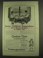 1913 Quaker Oats Advertisement - Some Children Somewhere
