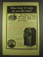 1913 Victor Victrola IV and XVI Phonograph Ad