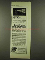 1913 Bausch and Lomb Home Balopticon Projector Ad