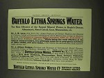 1913 Buffalo Lithia Springs Water Ad - Bright's Disease