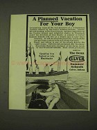 1913 Culver Summer Schools Ad - Planned Vacation