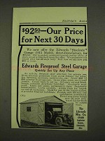 1913 Edwards Fireproof Steel Garage Ad