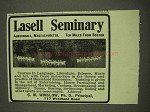 1913 Lasell Seminary Ad - Canoeing