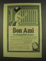 1912 Bon Ami Cleanser Ad - Cleaning White Enamel