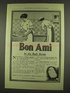 1912 Bon Ami Cleanser Ad - In The Bath Room