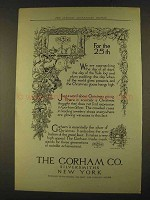 1912 Gorham Silversmiths Ad - For the 25th