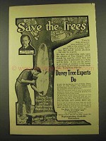 1912 Davey Tree Experts Ad - Save The Trees