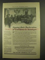 1912 Bauer Sanatogen Ad - Signing Their Declaration