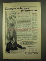 1912 Bauer Sanatogen Ad - Makes Good the Nerve Loss