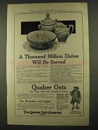 1912 Quaker Oats Ad - Thousand Million Dishes Served