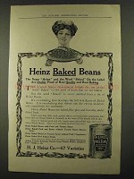 1912 Heinz Baked Beans Ad - Proof Of Real Quality