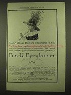 1912 American Optical Fits-U Eyeglasses Ad