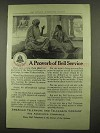 1912 AT&T Telephone Ad - A Proverb of Bell Service
