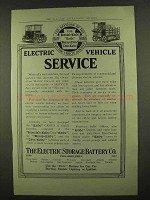 1912 Electric Storage Battery Exide Battery Ad
