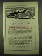 1912 Franklin Little Six and Thirty Cars Ad