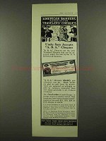 1912 American Bankers Association Travelers Cheques Ad