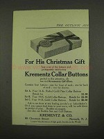 1912 Krementz Collar Buttons Ad - His Christmas Gift