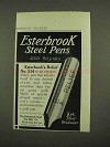 1912 Esterbrook Relief No. 314 Pen Ad - Steel Pens