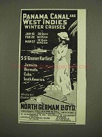 1912 North German Lloyd Cruise Ad - West Indies