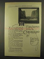 1911 Rock Island Railroad Ad - Been to Colorado