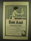 1911 Bon Ami Cleanser Ad - Cleans, Scours, Polishes