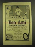 1911 Bon Ami Cleanser Ad - Makes Housecleaning Easy