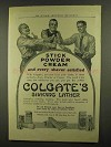 1911 Colgate's Shaving Lather Ad - Stick Powder Cream