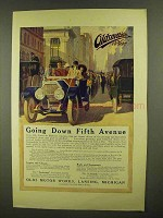 1911 Oldsmobile Motor Car Ad - Going Down Fifth Avenue