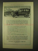 1911 Franklin Cars Ad - So Easy On Tires