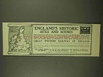 1911 Great Western Railway of England Ad - Historic