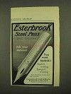 1911 Esterbrook Steel Pens Ad - 250 Styles