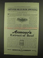 1910 Armour's Extract of Beef Ad - Left-Over Meats