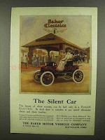 1910 Baker Electric Motor Car Ad - The Silent Car