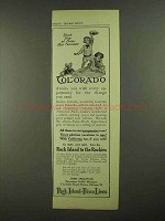 1909 Rock Island Frisco Lines Ad - Colorado