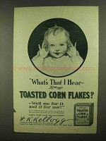 1909 Kellogg's Toasted Corn Flakes Ad - What's That