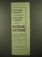 1909 Kodak Film Tank and Velox Paper Ad