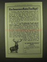 1909 Hartford Fire Insurance Ad - Rates Too High?