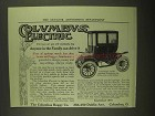 1909 Columbus Electric Brougham Car Ad - Anyone