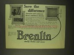 1909 Brenlin Window Shades Ad - Save the Difference