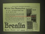 1909 Brenlin Window Shades Ad - All Colors