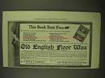 1909 Old English Floor Wax Ad